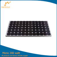 High quality well design mono solar panels 200 watt