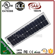 40w 60w all in one LED solar street light for Farm House Lighting Remote site and pathway Lighting