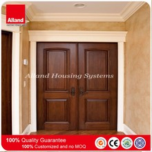 Oak wooden front swing open style main entrance wooden door for home