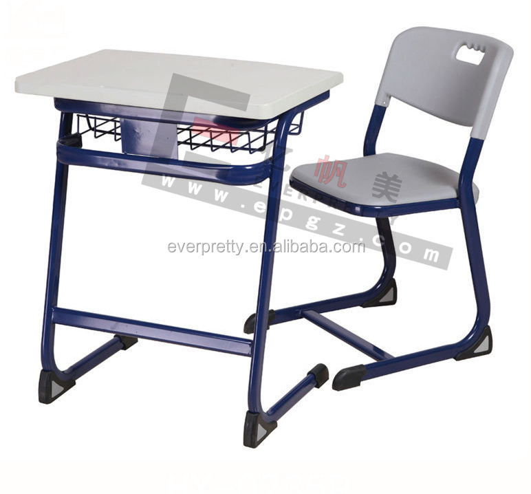 Height Adjustable School Desk And Chair Outdoor Blow Modled Folding School Se