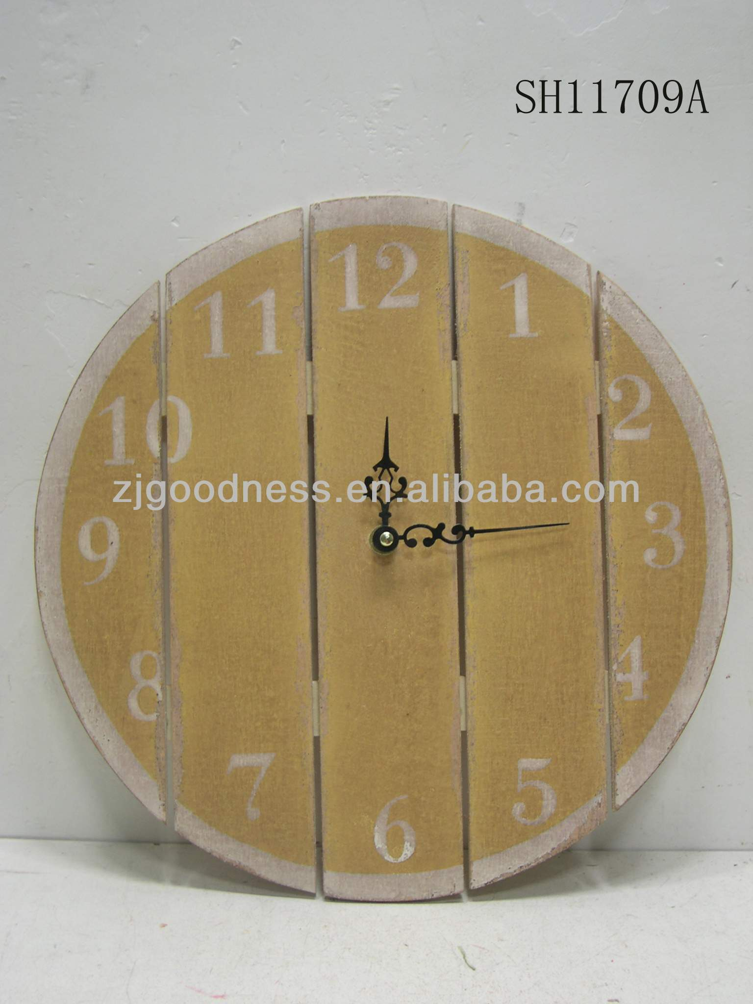 HOT SALE ROUND 13'' CHEAP SIMPLE WALL CLOCK FOR DECORATION
