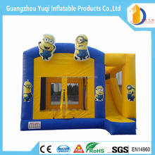 Guangzhou factory price inflatable Minion Bouncy Castle for kids ,jumping castle for sale inflatable combo with slide