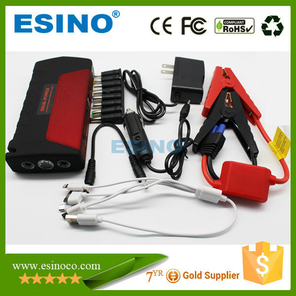 12v red lithium 12000mAh Portable Mini multi functional Car Jump Starter Power Bank with air compressor/air pump
