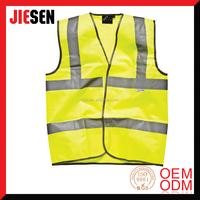 Velcro Fastening High Visibility Highway Safety Waistcoat Vest