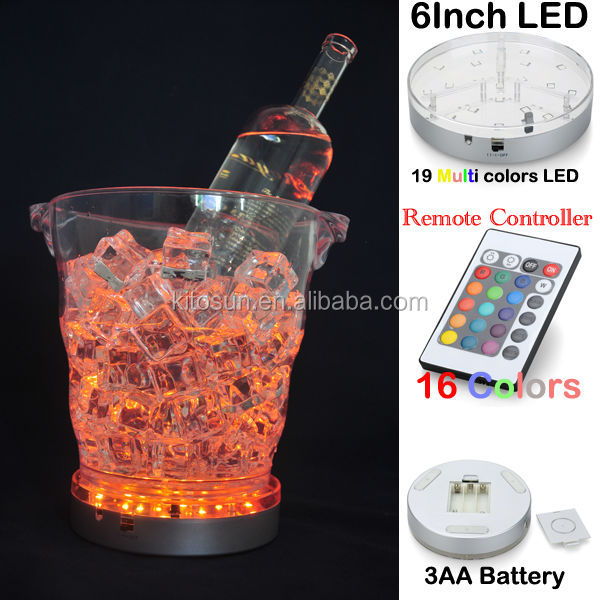 Yang People Loved 19pcs RGB Plastic RGB LED Ice Bucket Light
