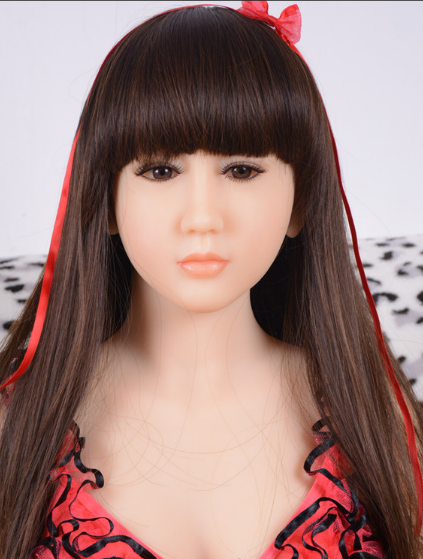 135 cm sex doll realistic oral silicone head with wig