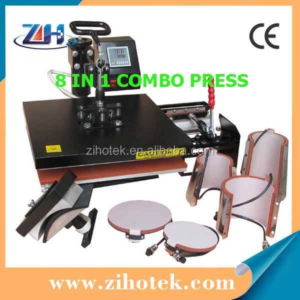 2017 hot sale 8 in 1 heat press machine