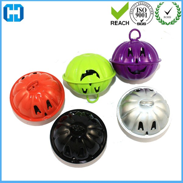 Custom Made Small Jingle Bell Pumpkin Smile Face Metal Bell
