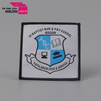 Wholesale cheap fashion woven embroidered patches and badges custom embroidery patch