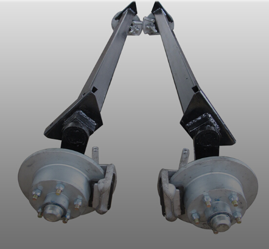 with arm Rubber Torsion Axle Manufacturers with tire and wheel