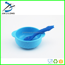 Silicone chinese soup bowl and spoon set for babies
