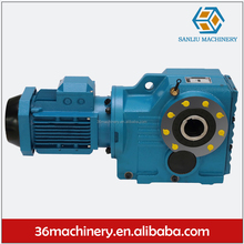 Hige torque K series helical bevel gearbox speed reducer electric motor reduction