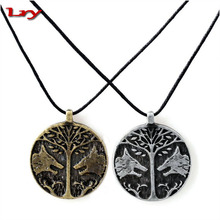Game Destiny Necklace Leather Chain Choker Animal Wolf Necklace Men Femme Jewellery