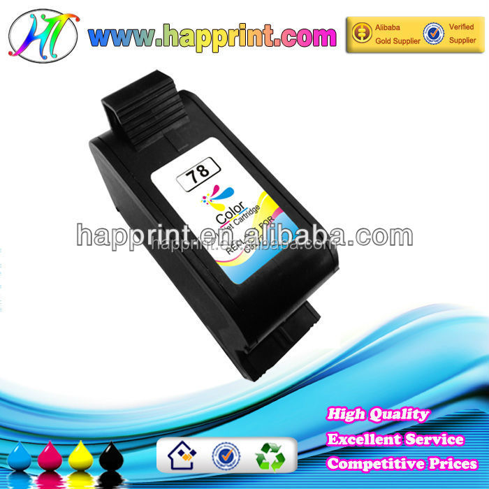 2014 New arrival refillable ink cartridges for hp 78 with chip cartuchos impressora hp