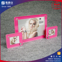 Yageli Factory wholesale double sided 4X6 clear acrylic magnetic photo frame