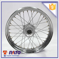 High Performance Hot Selling Motorcycle Wheels With Steel Rim Silver Hub