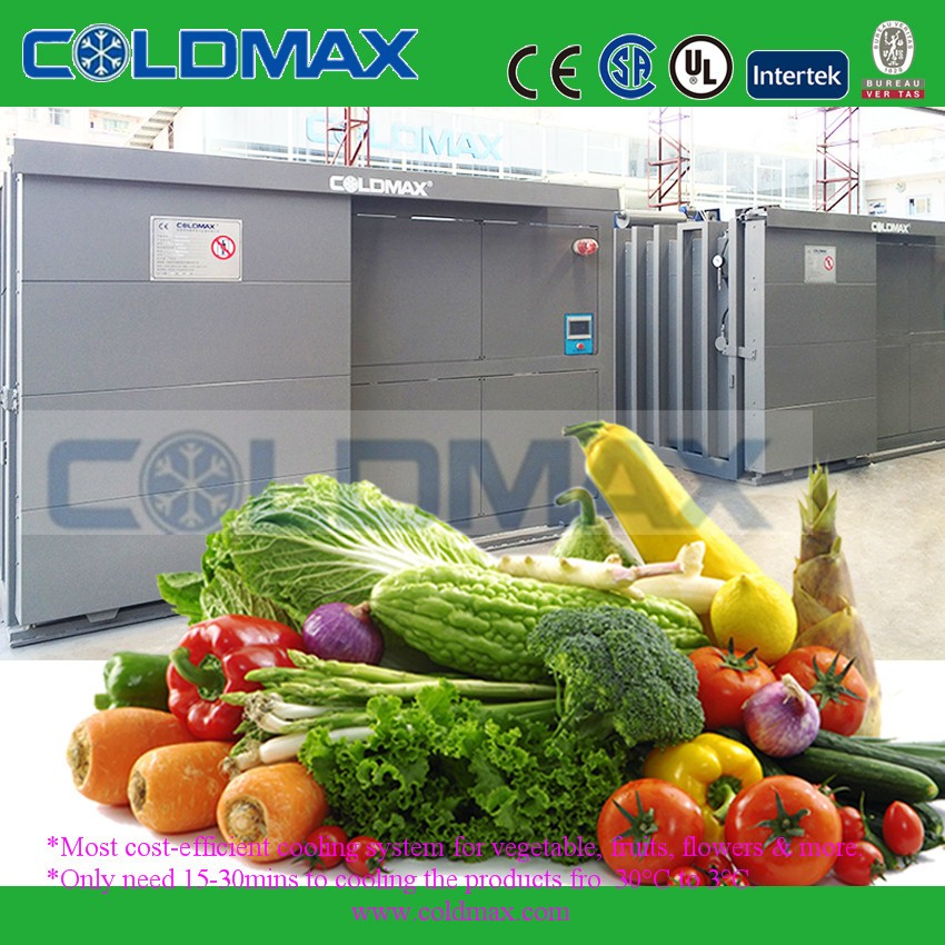 vacuum cooler use in the food and vegetable processing industries