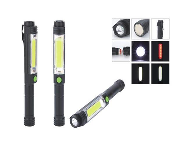 Hot selling best price Strong magnet Led Torch light with Pocket Clip COB Flashlight
