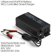 High quality and Aluminium case design 12.6v 8amp output 3cells li-ion battery charger
