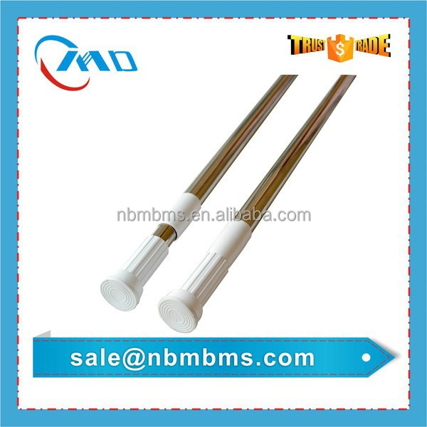 Customized Bathroom Curtain Shower Telescopic Aluminum Pole