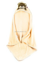 Baby Bath Towel with Hood. Microfibre - Children Hooded Towel - Warm! (Bear)