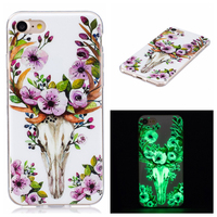 Luminous phone case IMD process phone shell protective back cover for iPhone 7 7Plus soft case