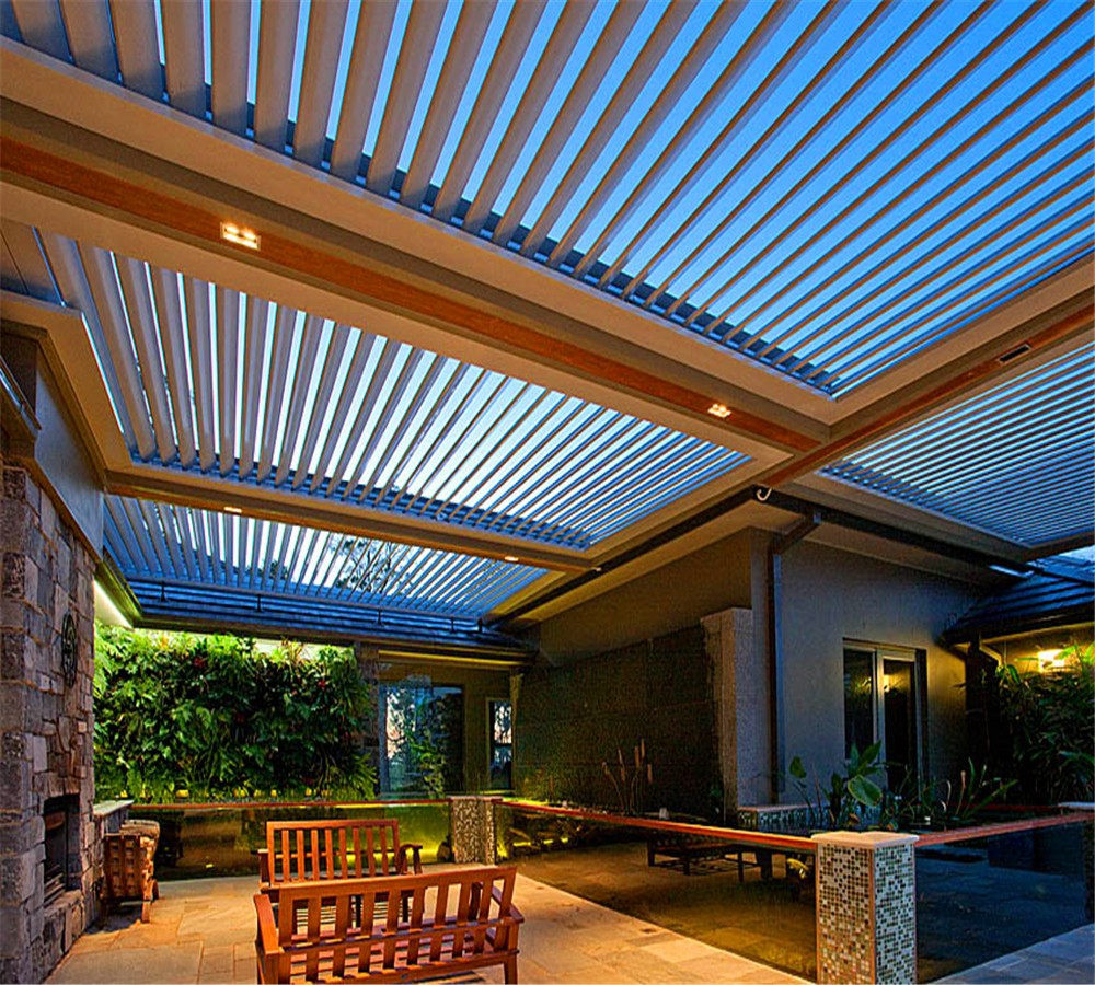 Fashion waterproof pergola opening roof louver louver parts aluminum louver roof