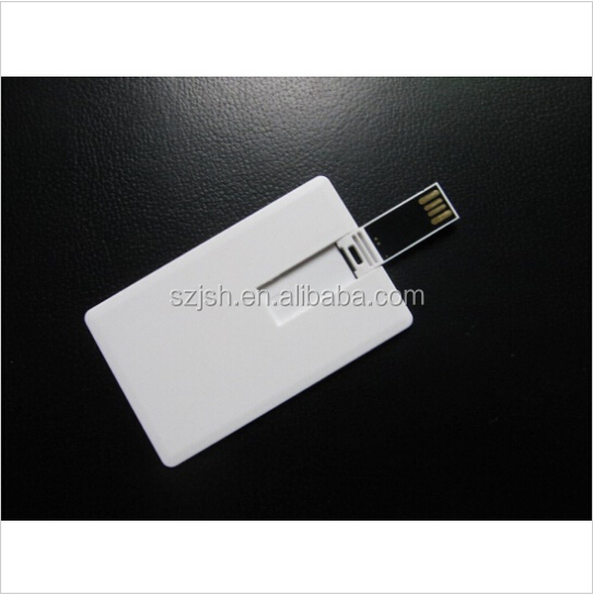 Factory Price Blank Credit Card Shape USB Pen Drive For Promotion Gift