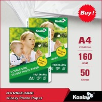 Double-sided semi glossy 160g inkjet photo paper