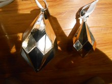 shiny double peak glass arts for christmas tree ornaments
