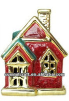 Ceramic Catholic Church mini christmas village figurine