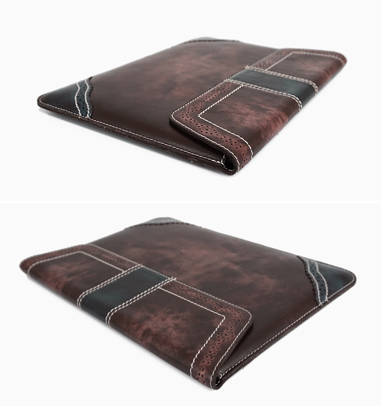 Minandio brand Weston vintage style cowhide leather table case for ipad case