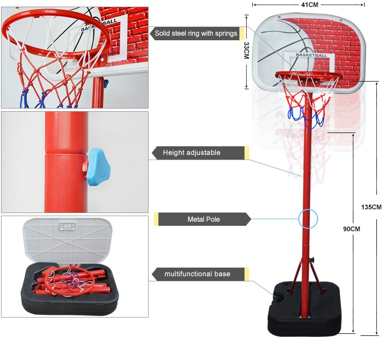 mini kids basketball hoop with stand