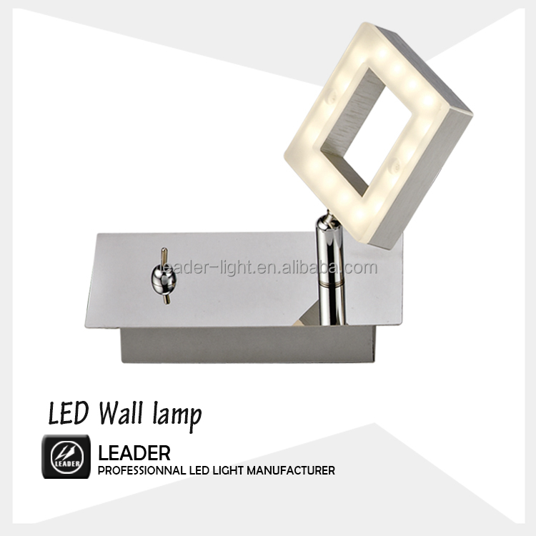 led square wall lamps with toggle switch toilet mirror non-directional spotlight