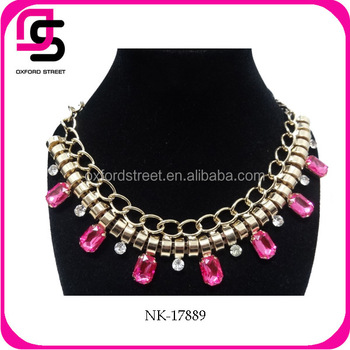 Luxury Crystal Statement Necklace Jewelry Bib Choker Necklace