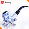 FT-00484 Yiwu Futeng Hot Selling Blue and White Porcelain Tobacco Pipe Wholesale Smoking Pipes For Cheap