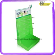 cardboard material,K5 corrugated Recyclable paper printing display stand for LED