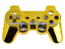 golden Chrome Shell for PS3 wireless controller for ps3 replacement parts