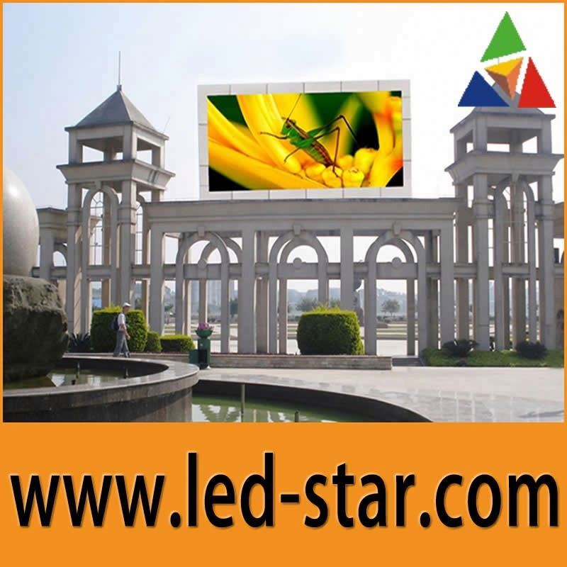 Indoor/outdoor full color video panel p10 led display screen