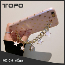 Shiny Star Bracelet Decoration Silicone Mobile Phone Cover Case For iphone 7 6 6S