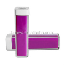 Alibaba golden supplier mini 2600mAh lipstick power bank for mobile phone factory price, grade A battery real capacity battery