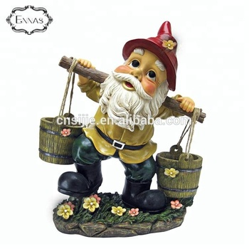 Polyresin sculptures Resin Garden Gnomes Greeting Welcome Sign Statue