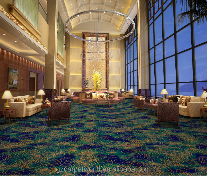 Blue and green color carpet for casino, coffee house, and small restaurant