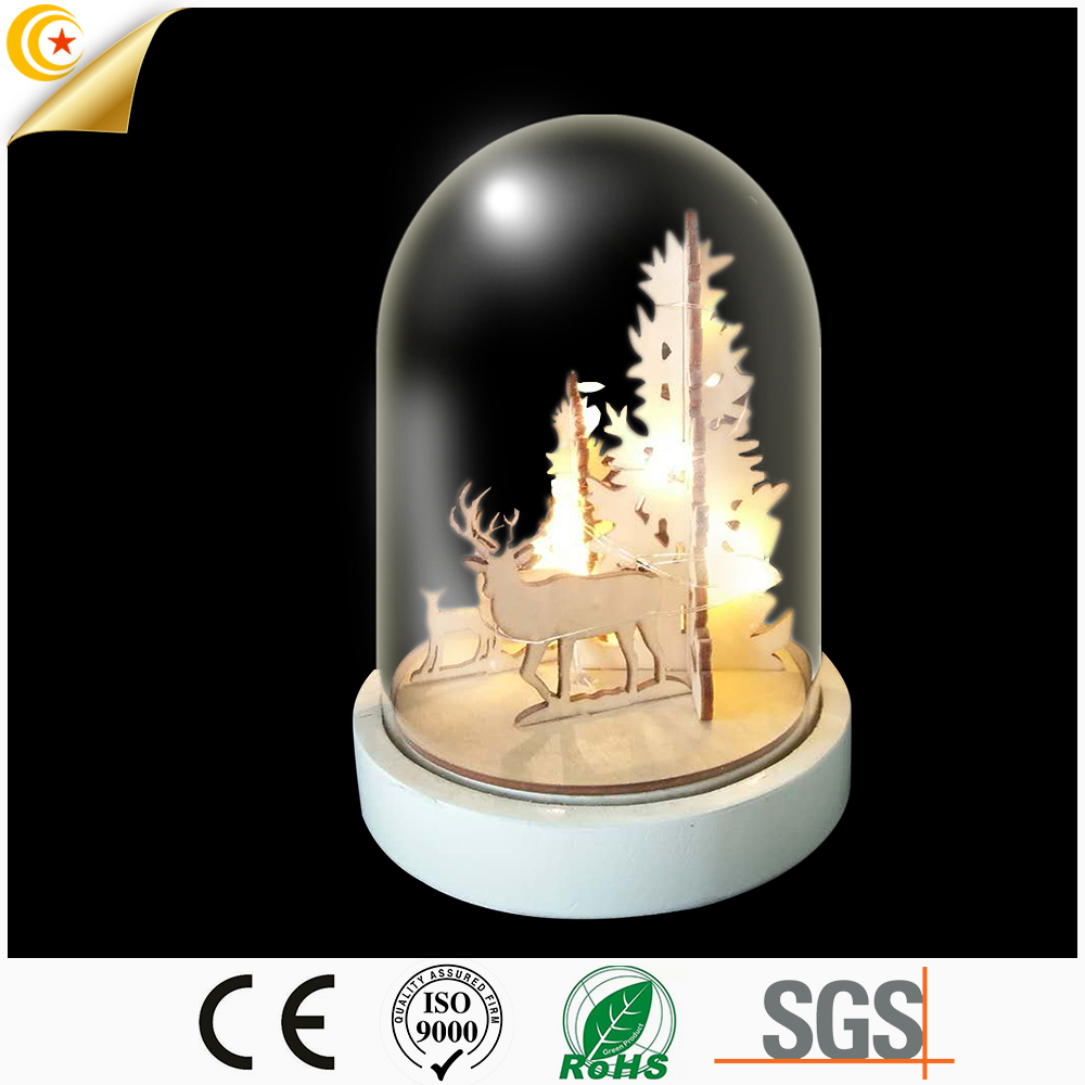 high level glass dome type led lighting fancy lights for decoration