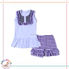 Dress boutiques in karachi plain sleeveless with ruffles bibi and stripes icing shorts clothes kids