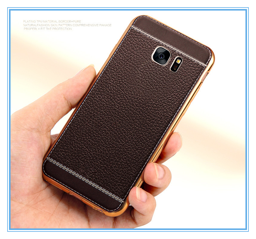wholesale tpu leather case cell phone for Samsung S7