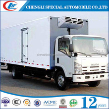 Sinotruck 3 ton small cooling van refrigerated freezer truck for sale
