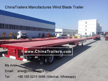 ChinaTrailers Produced Trailer for Transportation Trucks for Wind Power Generation Station Wind Blade Trailer