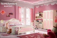 Pink Hot sale kids slide bed