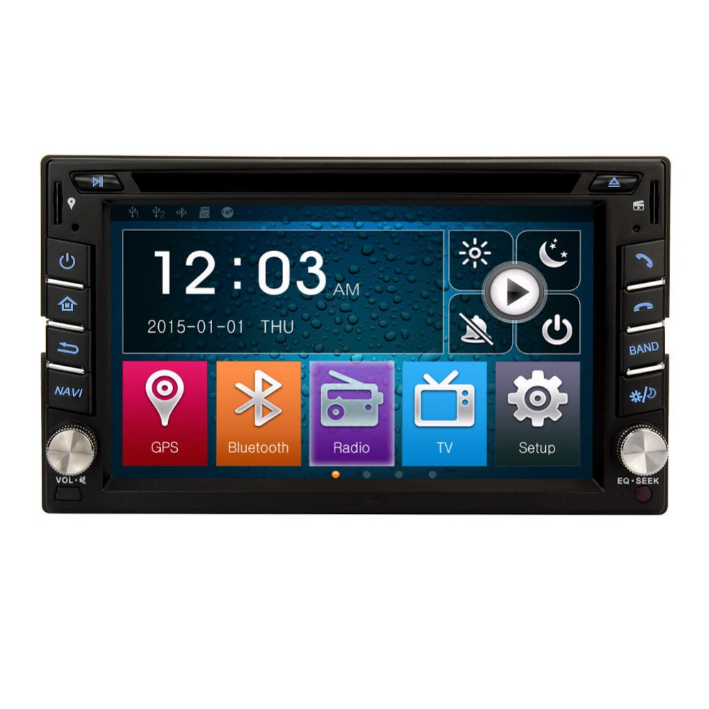 Winmark Exclusive Car Radio DVD Player GPS Wince 6.0 6.2 Inch 2 Din With Touch Screen For NISSAN FRONTIER 2001-2011 Universal